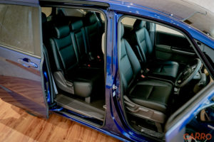 Seats in a Honda Freed Hybrid from the side view