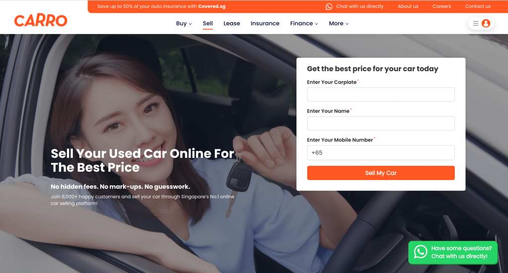 sell your car at CARRO